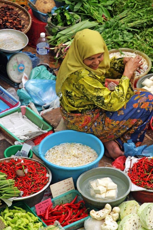 Pasar Siti Khadijah (Kota Bharu Central Market), Kelantan, Malasia imágenes de archivo libres de regalías