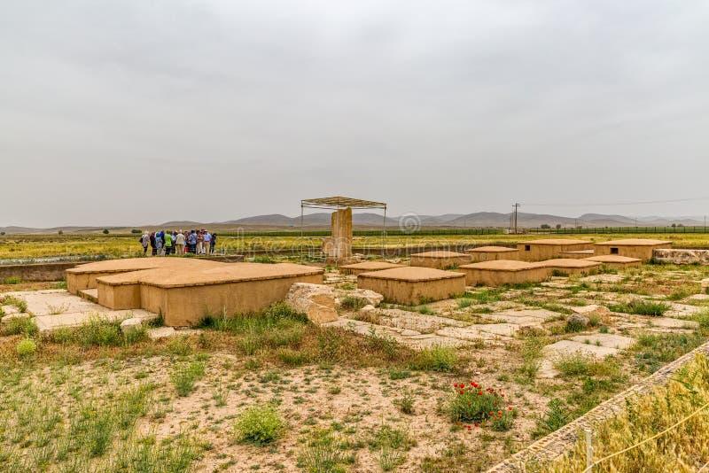 Pasargad arkeologisk plats royaltyfri foto