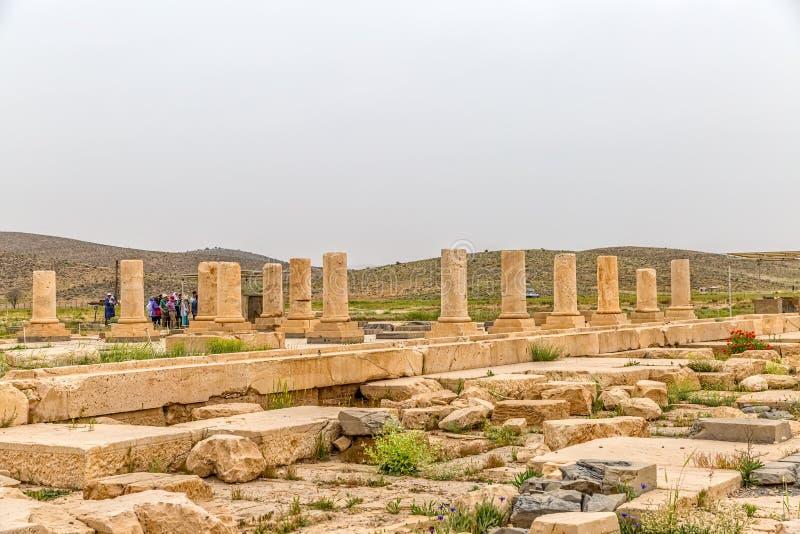 Pasargad arkeologisk plats royaltyfria foton