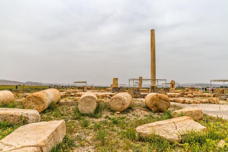 Pasargadae arkeologisk plats arkivfoton