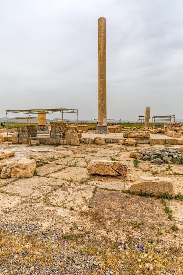 Pasargadae arkeologisk plats royaltyfria bilder