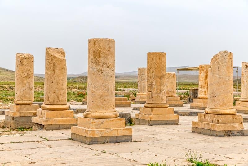 Pasargadae arkeologisk plats arkivbild