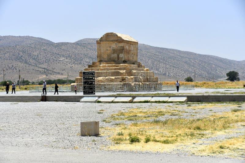 Pasargadae Shiraz, Fars landskap, Iran, Juni 22, 2019 arkivbilder