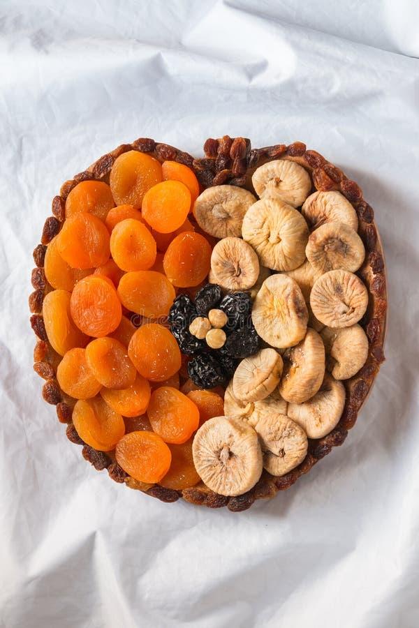 Pasas secadas de los higos de los albaricoques de las frutas Nuts imágenes de archivo libres de regalías