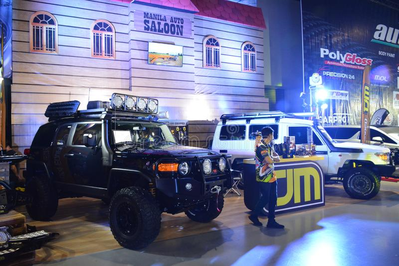 Toyota FJ Cruiser at Manila Auto Salon. PASAY, PH - NOV. 16: Toyota FJ Cruiser at Manila Auto Salon on November 16, 2019 in SMX Convention Center, Pasay royalty free stock photography
