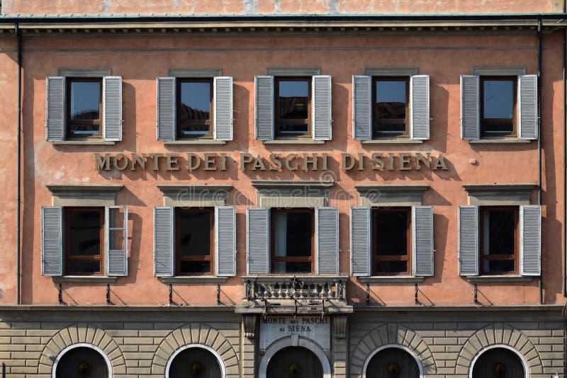 Paschi för gruppMonte dei di Siena royaltyfria foton