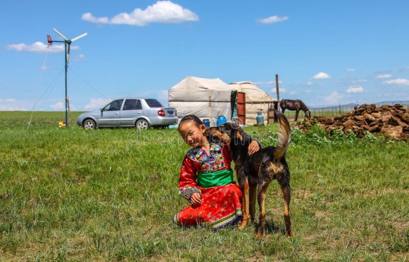 Pascolo del Inner Mongolia fotografie stock