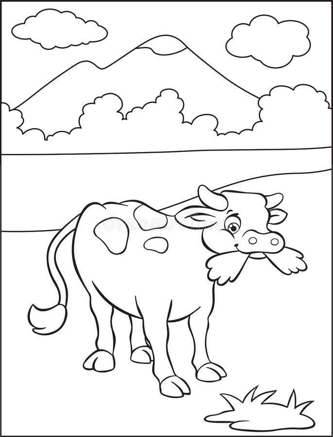 Pascolo della mucca royalty illustrazione gratis