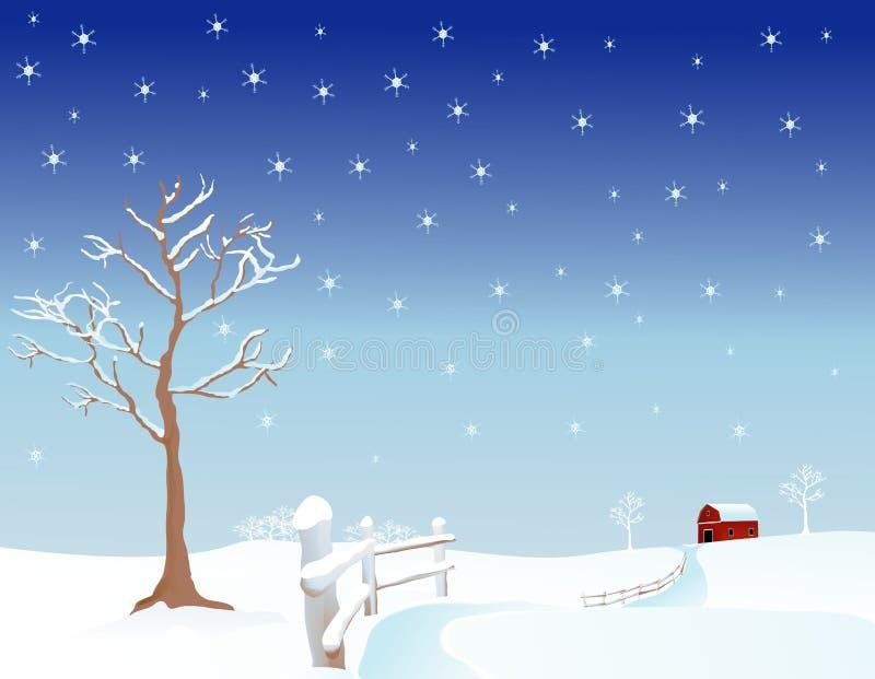 Pascolo di inverno illustrazione vettoriale