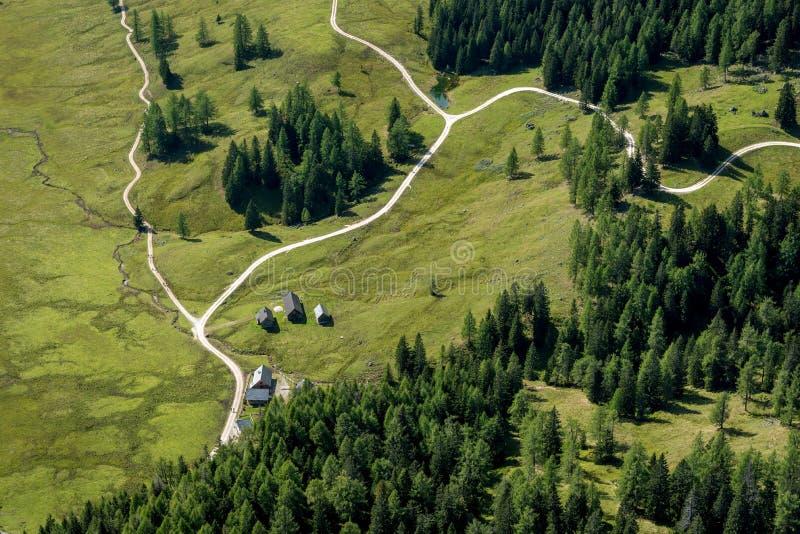 Pascolo di Wurzeralm in Austria immagini stock libere da diritti