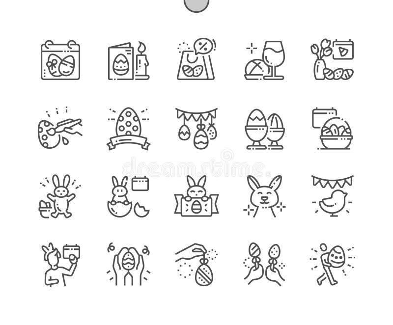 Pascua Bien-hizo vector perfecto del pixel a mano stock de ilustración
