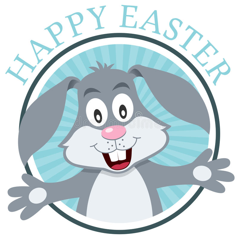 Pascua Bunny Rabbit Greeting Card stock de ilustración