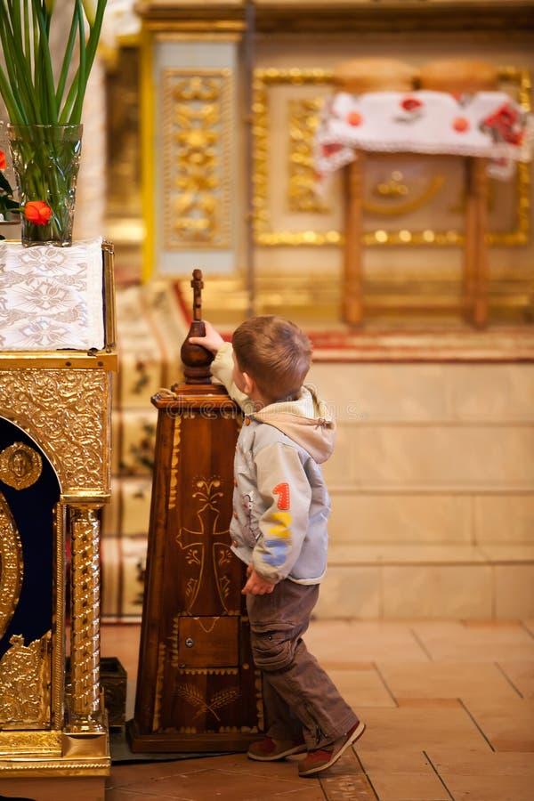 Pascua, feligreses de la iglesia ortodoxa. fotografía de archivo