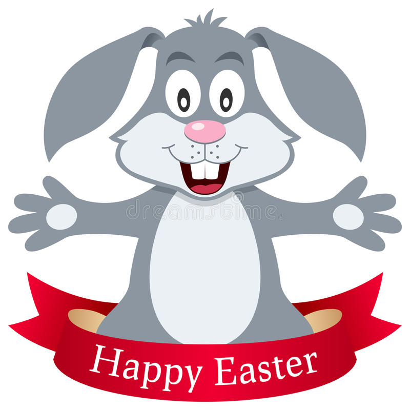 Pascua feliz Bunny Rabbit con la cinta libre illustration