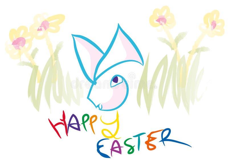 Pascua feliz colorida ilustración del vector