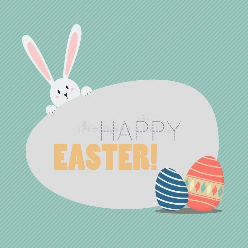 Pascua feliz con los huevos y el conejito de Pascua libre illustration