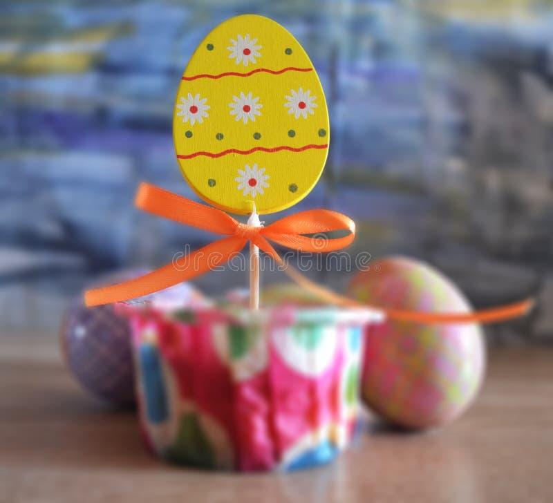 Pascua feliz Fondo congratulatorio de pascua stock de ilustración
