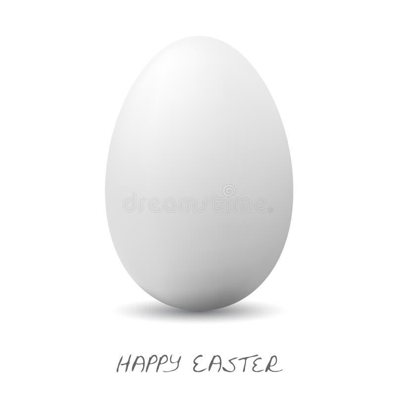 Pascua feliz - huevo claro blanco libre illustration