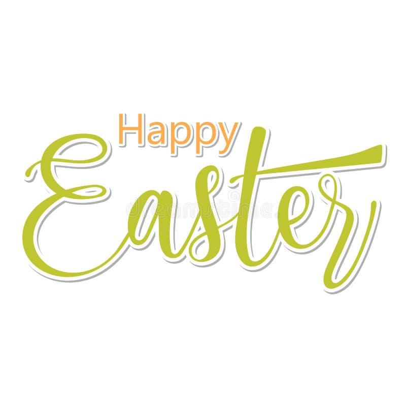 Pascua feliz Letras caligráficas dibujadas mano ilustración del vector