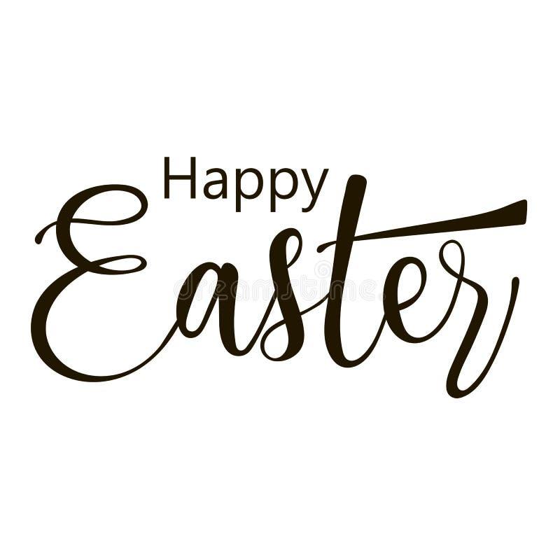 Pascua feliz Letras caligráficas dibujadas mano libre illustration
