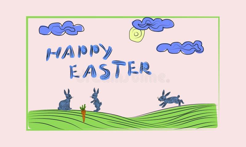 Pascua feliz - tarjeta Ilustración del vector stock de ilustración