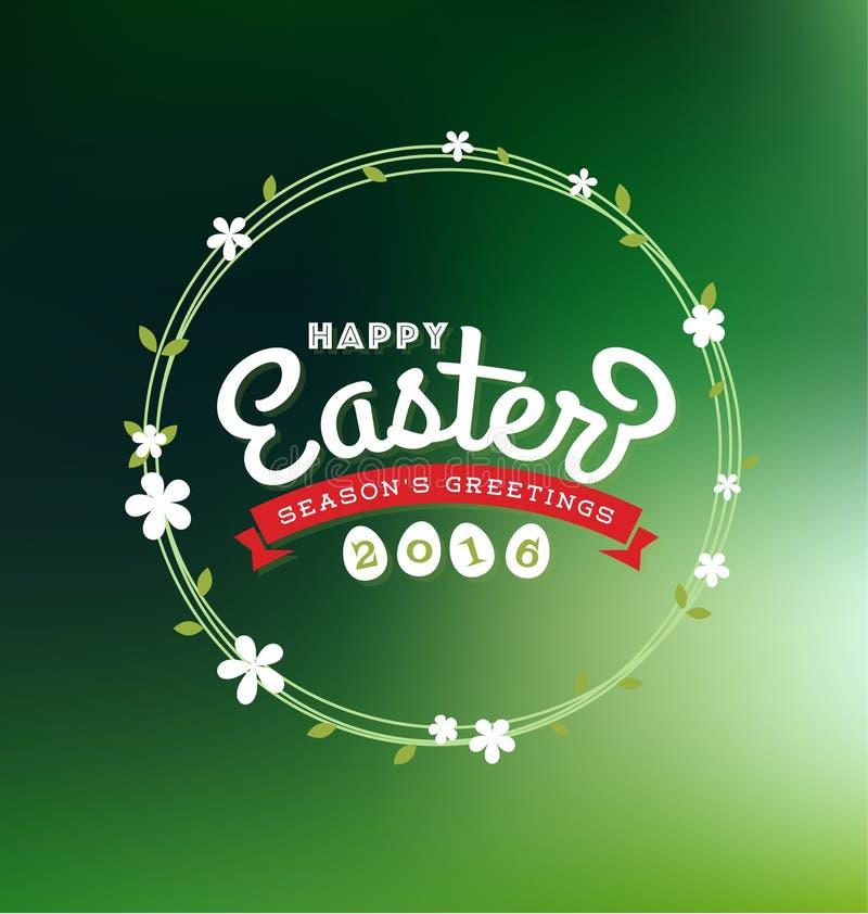 Pascua feliz 2016 tarjetas de felicitación que ponen letras libre illustration