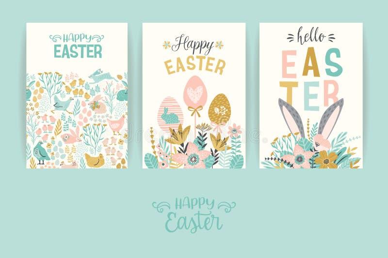 Pascua feliz Vector las plantillas para la tarjeta, el cartel, el aviador y otros usuarios ilustración del vector
