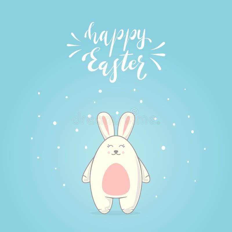 Pascua feliz y conejito lindo libre illustration