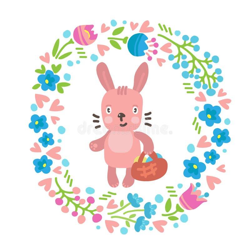 Pascua rabbits-06 ilustración del vector