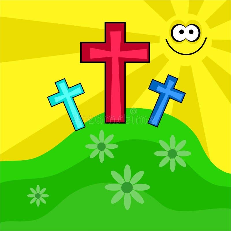 Pascua retra cobarde stock de ilustración
