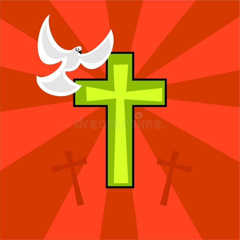 Pascua retra cobarde ilustración del vector