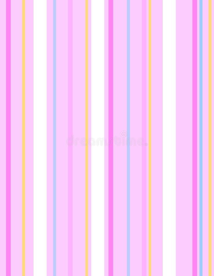 Pascua rosada raya el fondo del modelo stock de ilustración