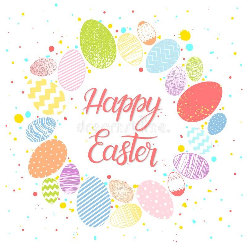 Pascua sazona la tarjeta de felicitaciones stock de ilustración