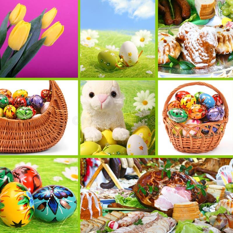 Pascua tradicional - collage temático fotos de archivo
