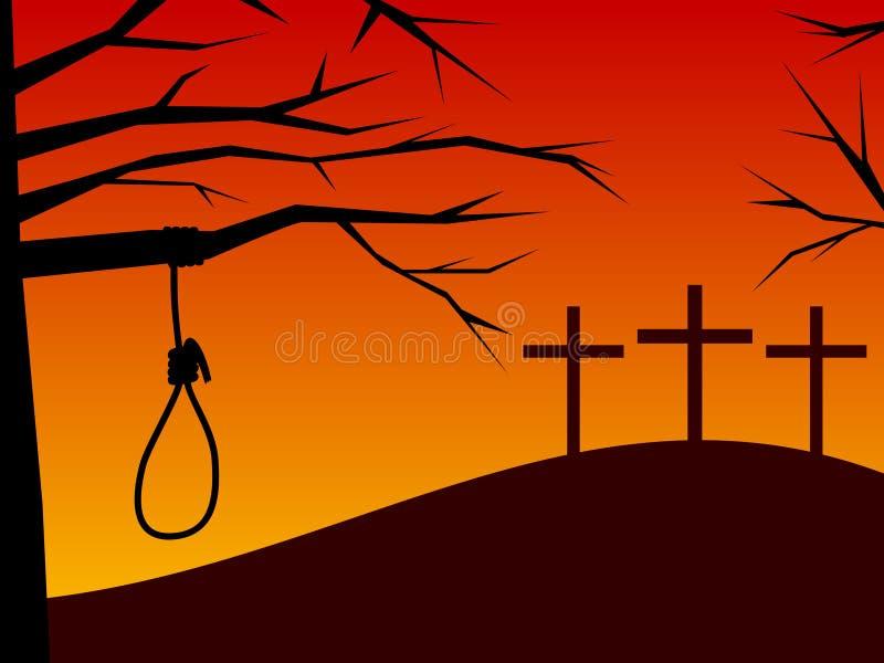 Pascua - traición y arrepentimiento stock de ilustración
