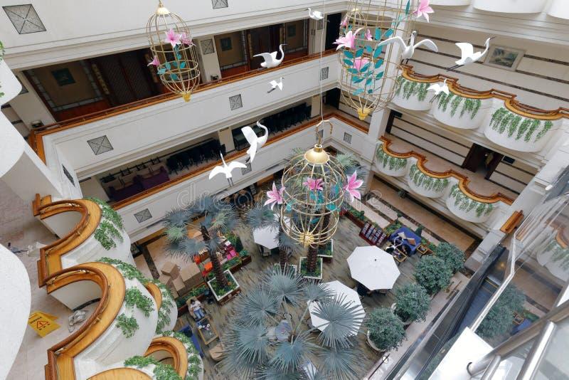 Pase por alto el pasillo del hotel jinyan fotos de archivo libres de regalías