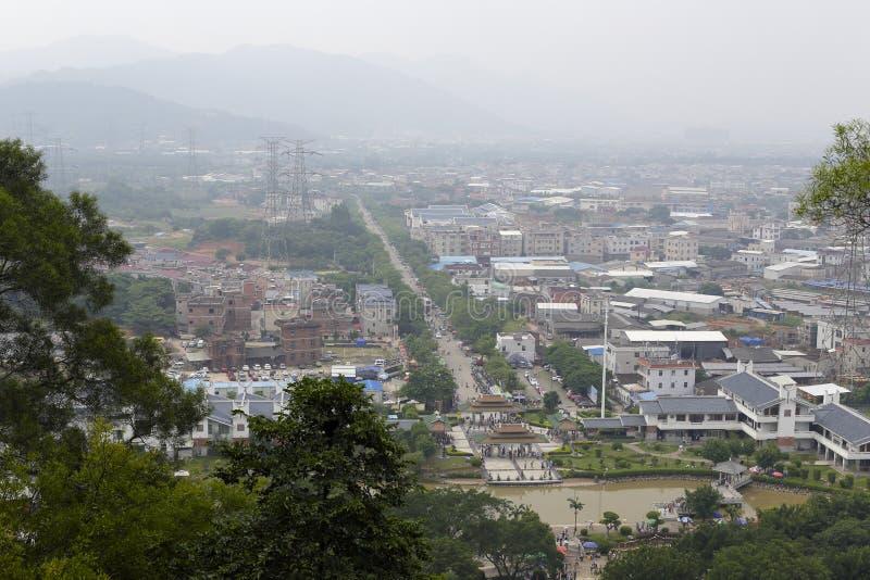 Pase por alto la ciudad del zhangzhou imagen de archivo libre de regalías