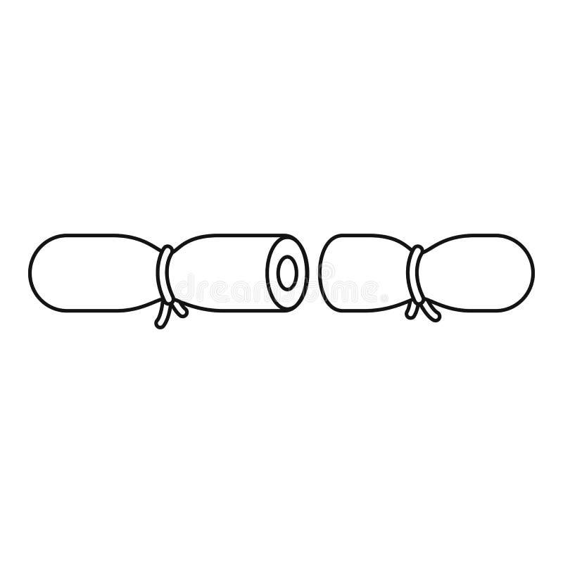 Pasek antykoncepcyjna ikona, konturu styl ilustracja wektor