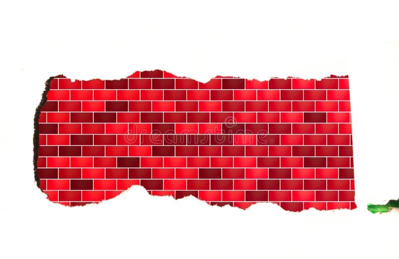 Pasek biała księga z błękitnym brickwork fotografia royalty free