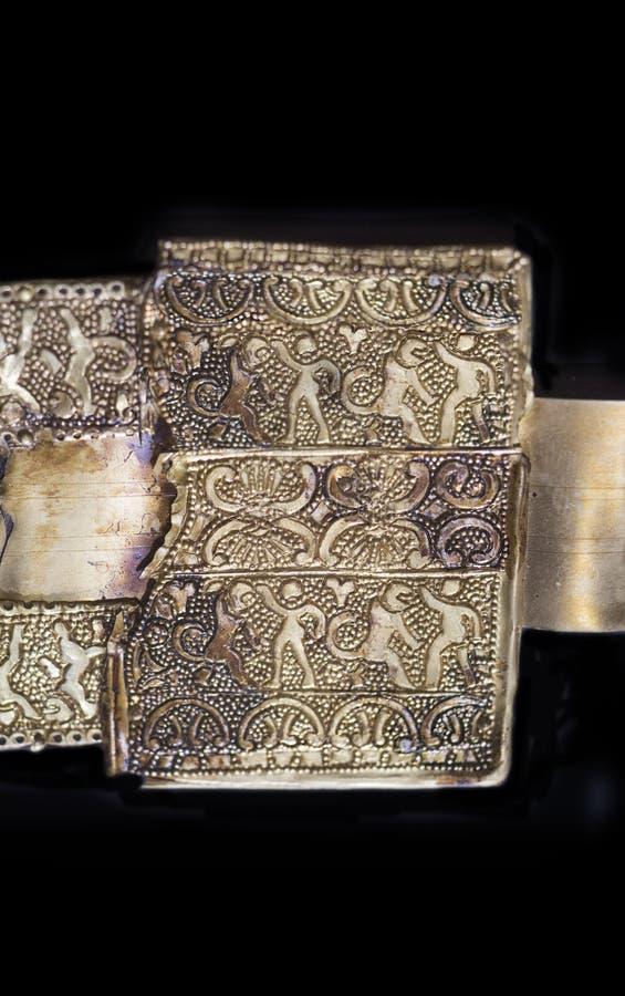 Pasek, kawałek tartessos hoard Aliseda, Caceres, Hiszpania obraz royalty free