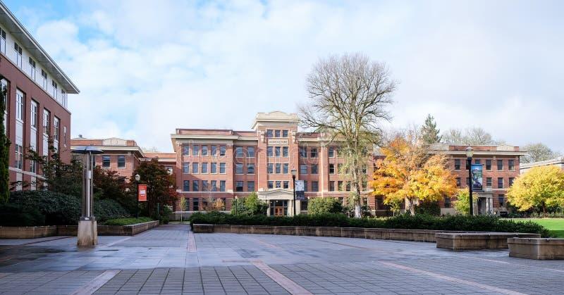Pasemka rolnictwo Hall na Oregon stanu kampusie, C zdjęcia royalty free
