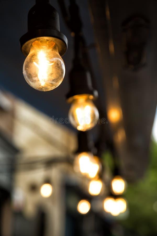 Pasemko żarówki światło zdjęcie stock