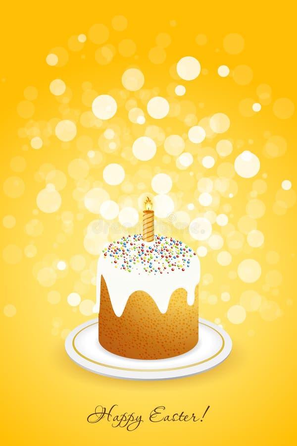 Pasen-Achtergrond met Verfraaide Cake royalty-vrije illustratie