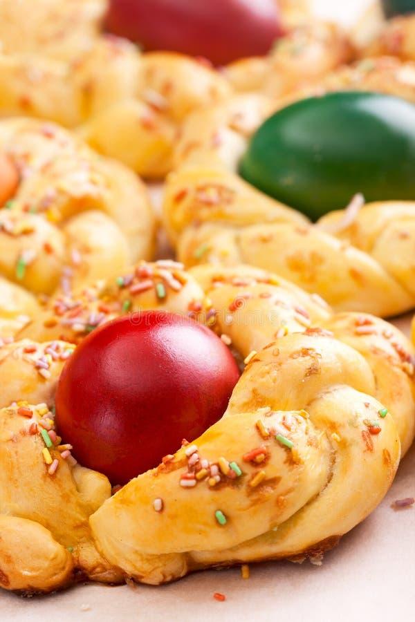 Pasen-brood met eieren royalty-vrije stock fotografie
