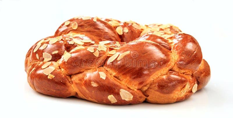 Pasen-brood op witte achtergrond royalty-vrije stock afbeelding