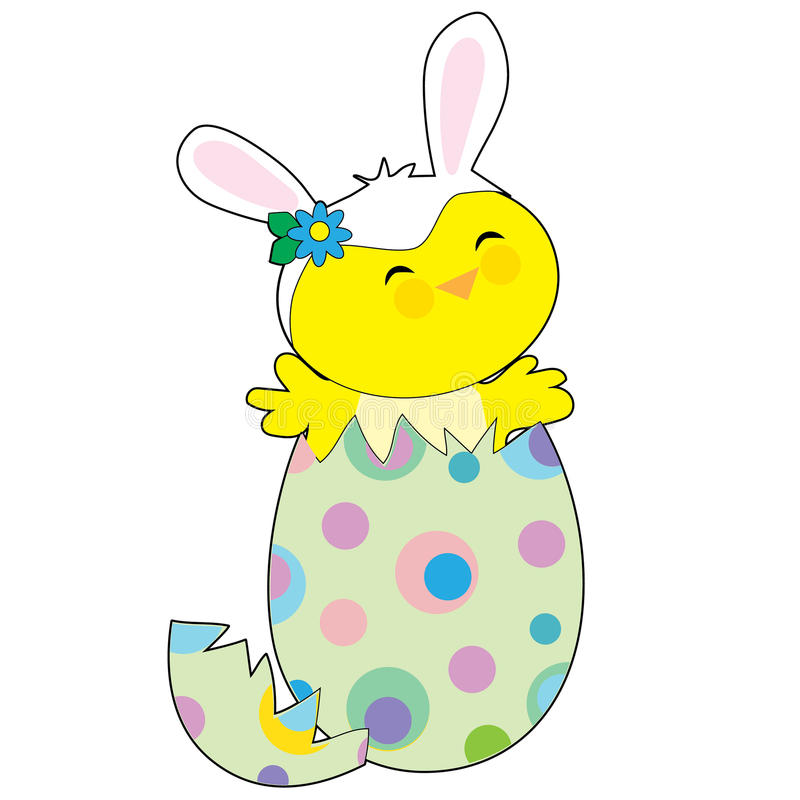 Pasen Bunny Chick stock illustratie