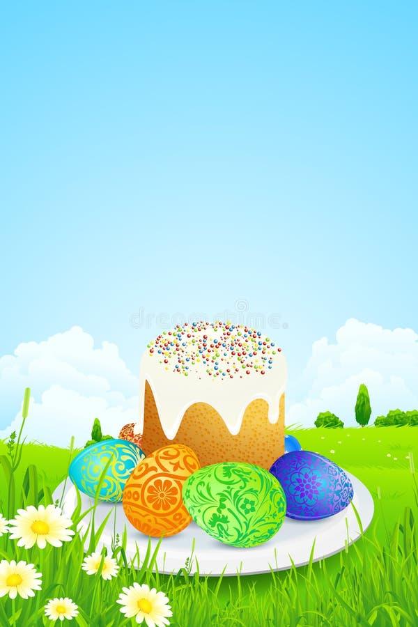 Pasen-Cake royalty-vrije illustratie