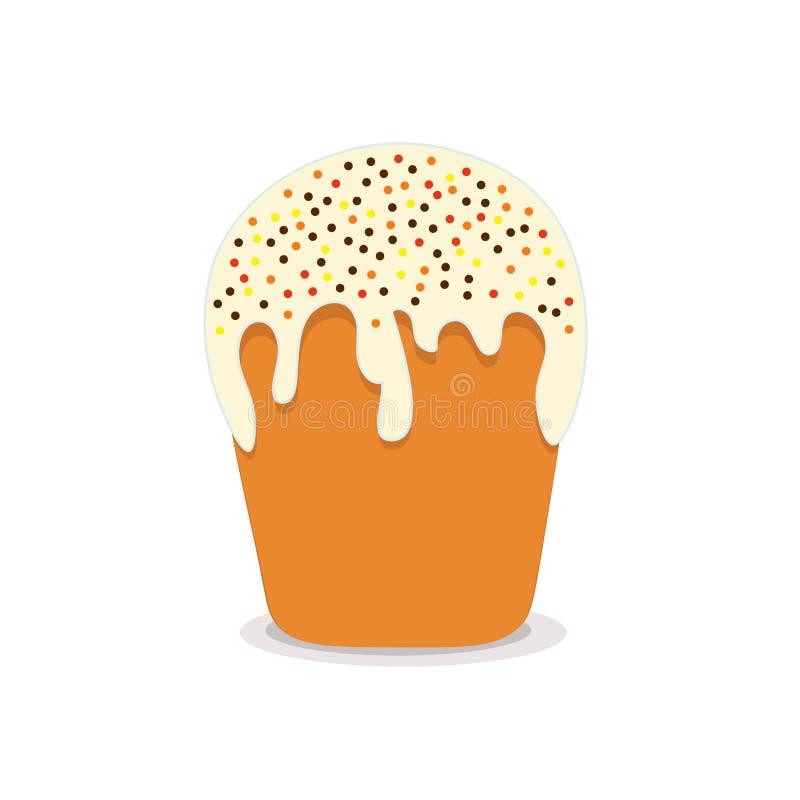 Pasen-cake met een glans stock illustratie