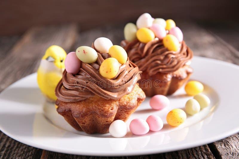 Pasen Cupcake royalty-vrije stock fotografie