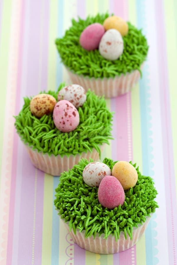 Pasen cupcakes stock afbeelding